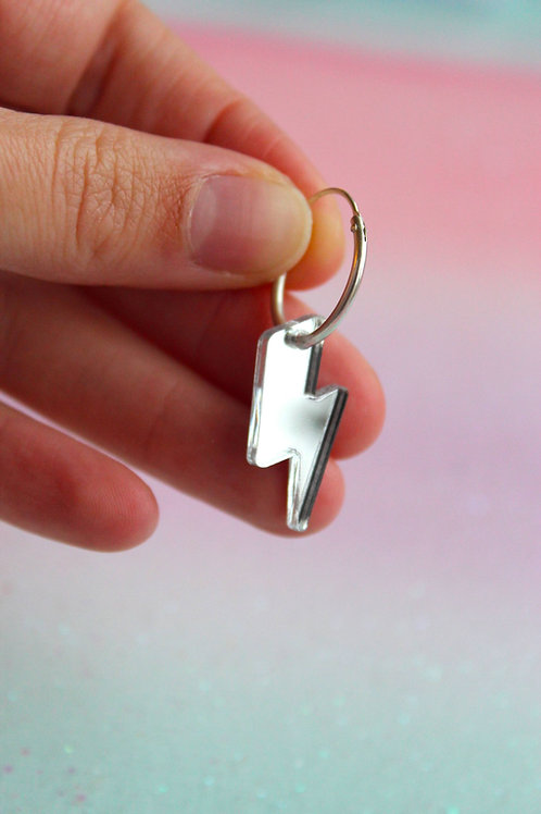 Silver Bolt Charms