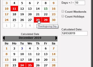 JuraLaw's Date Calculator Includes Court Holidays Across the Nation