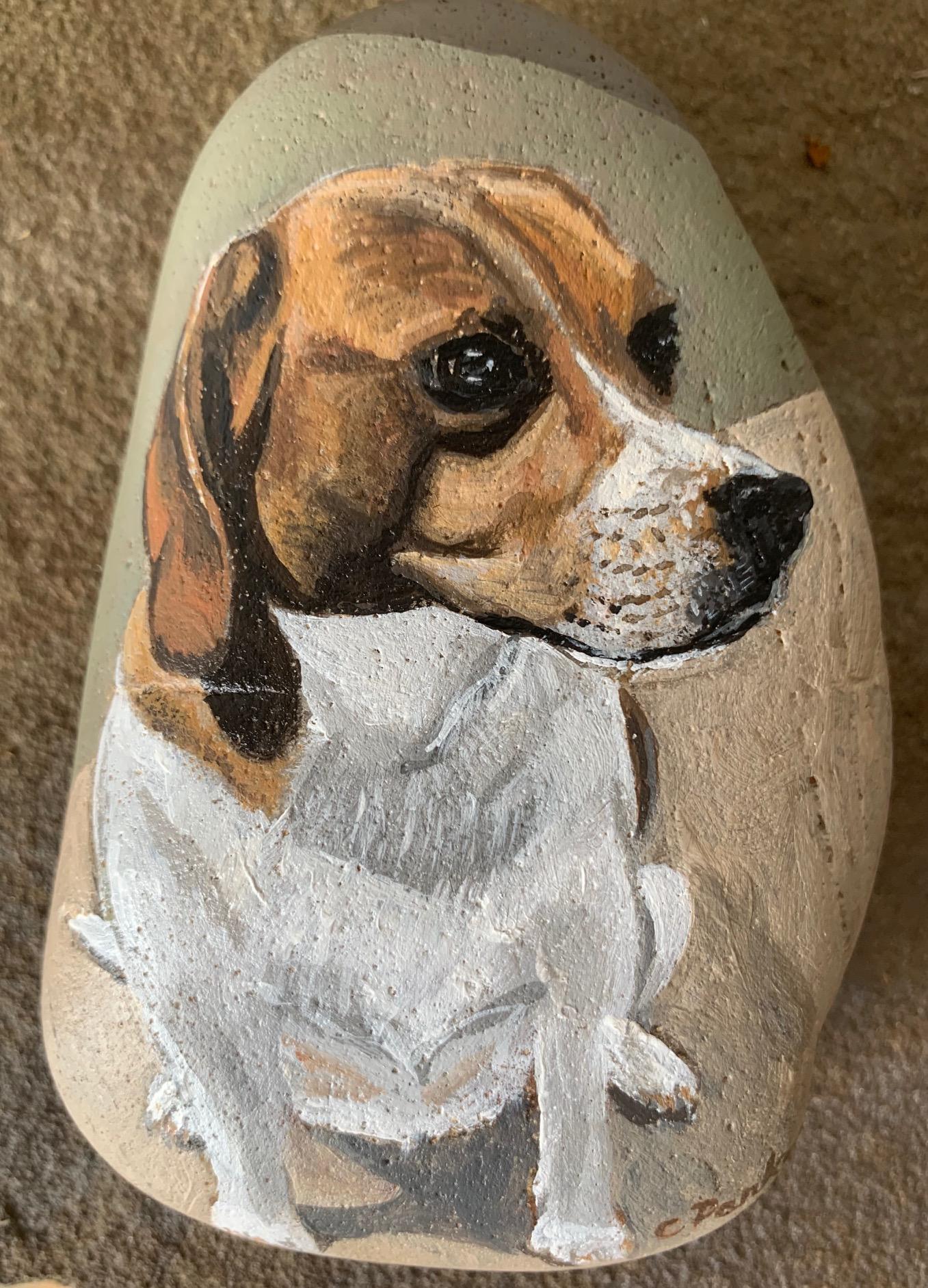Lexi - Acrylic on stone