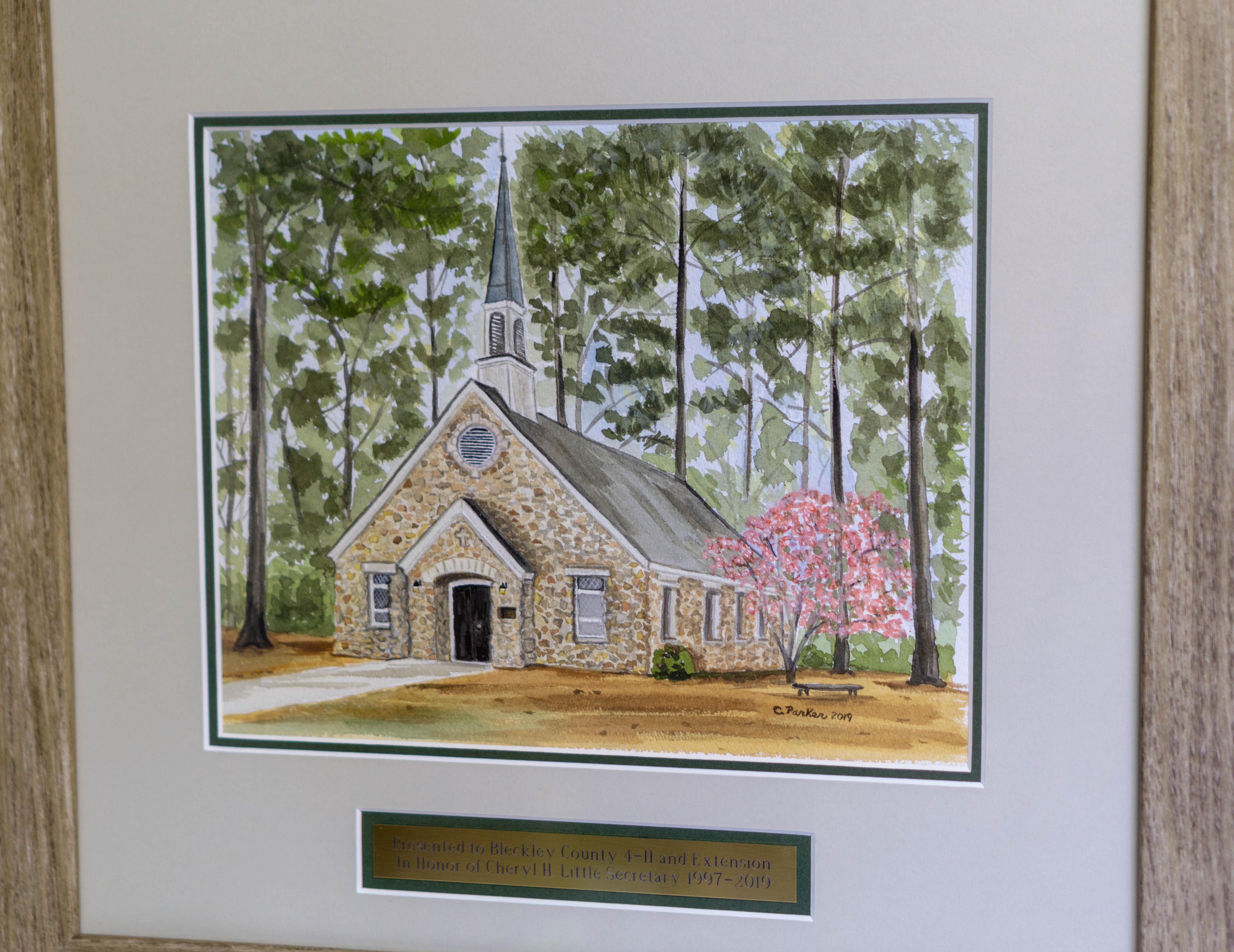 Rock Eagle Chapel Watercolor
