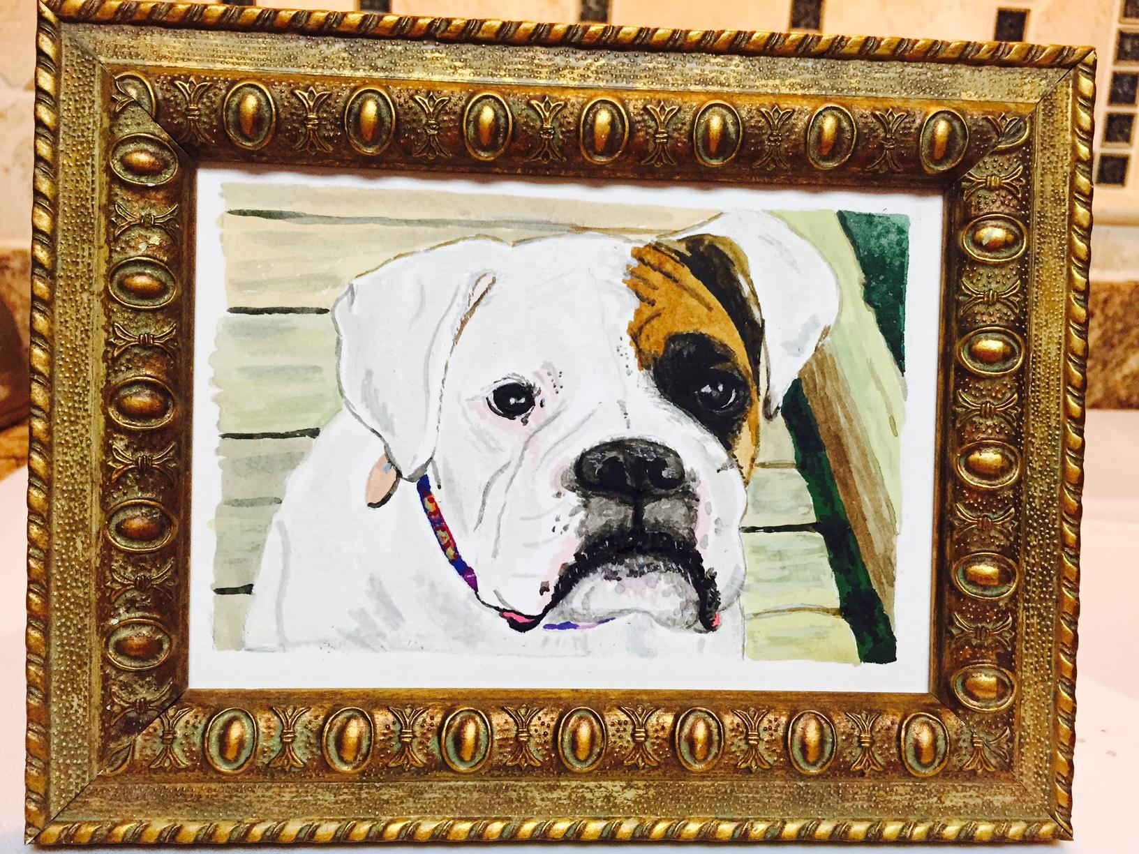 Pearl - Dog Watercolor