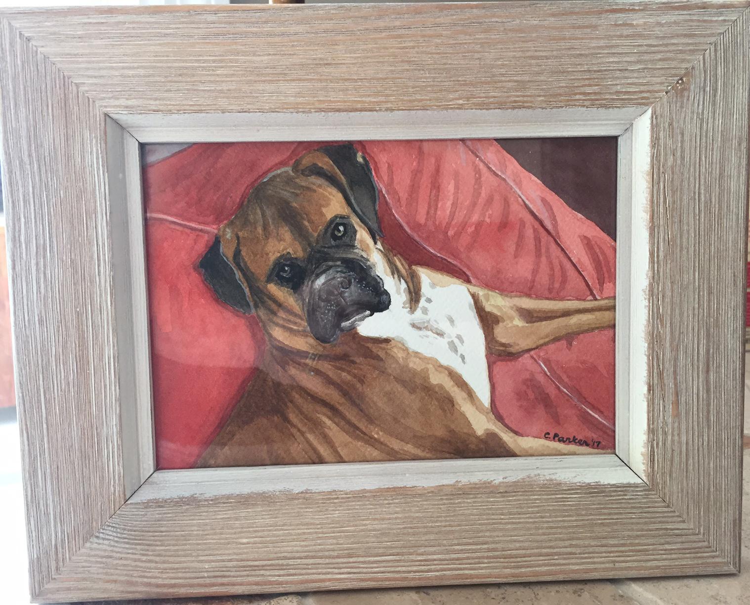 Murphy - Dog Watercolor