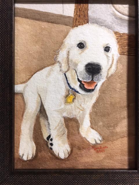 Doug - Dog Watercolor