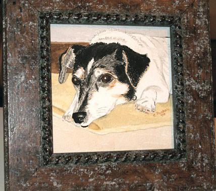Molly - Dog Watercolor