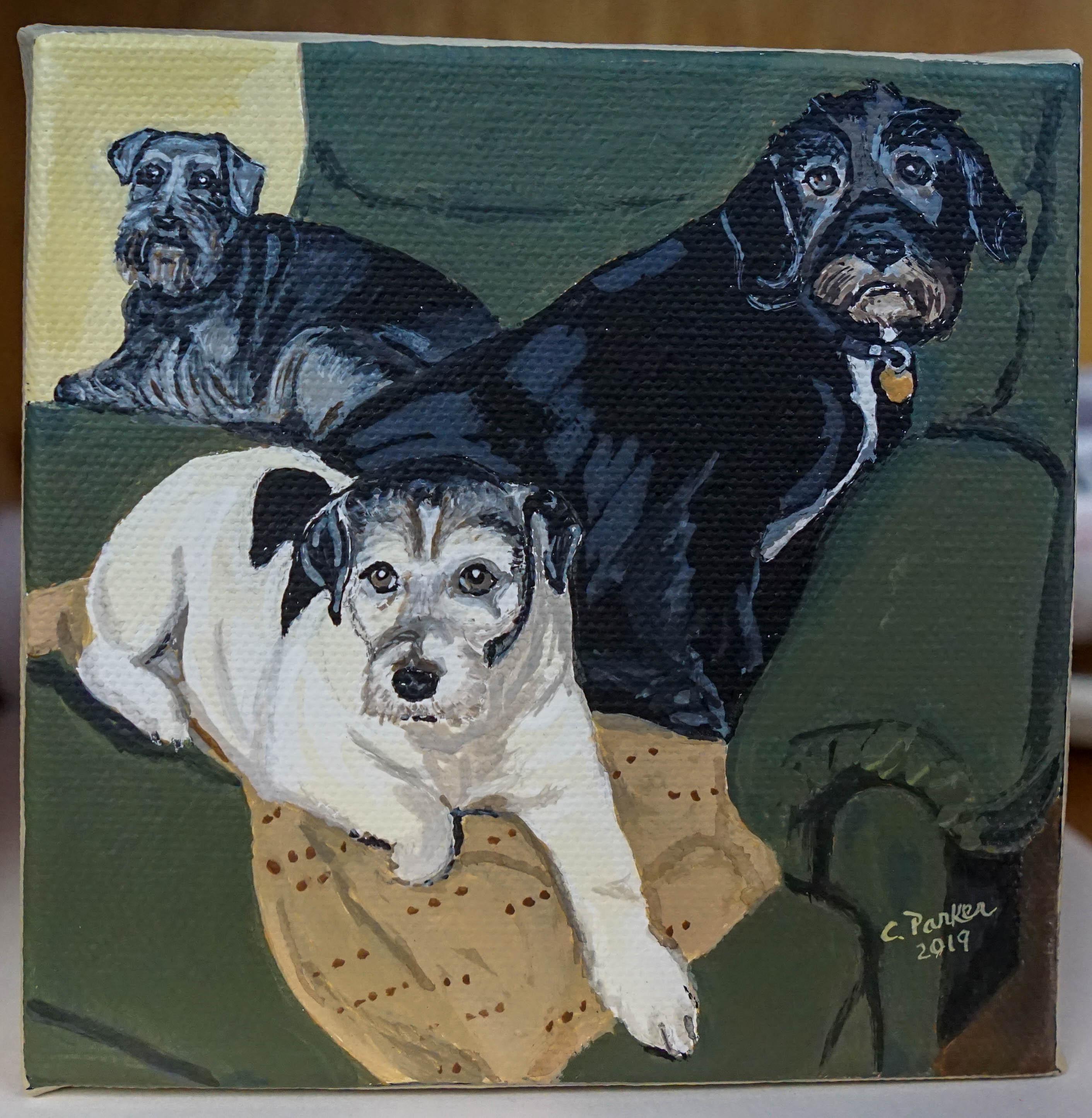 3 Friends Acrylic