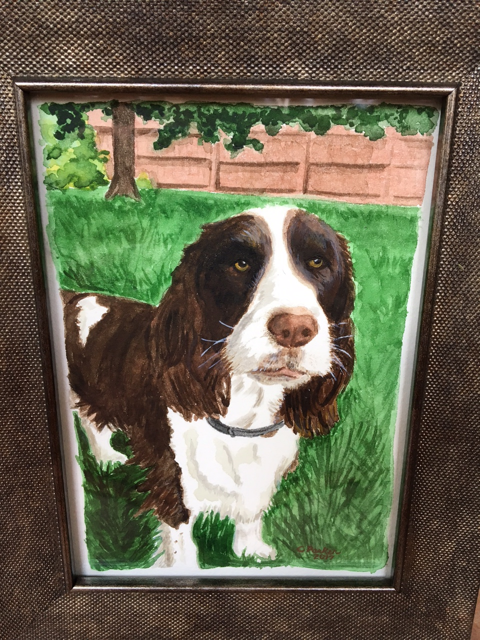 Lulu - Dog Watercolor