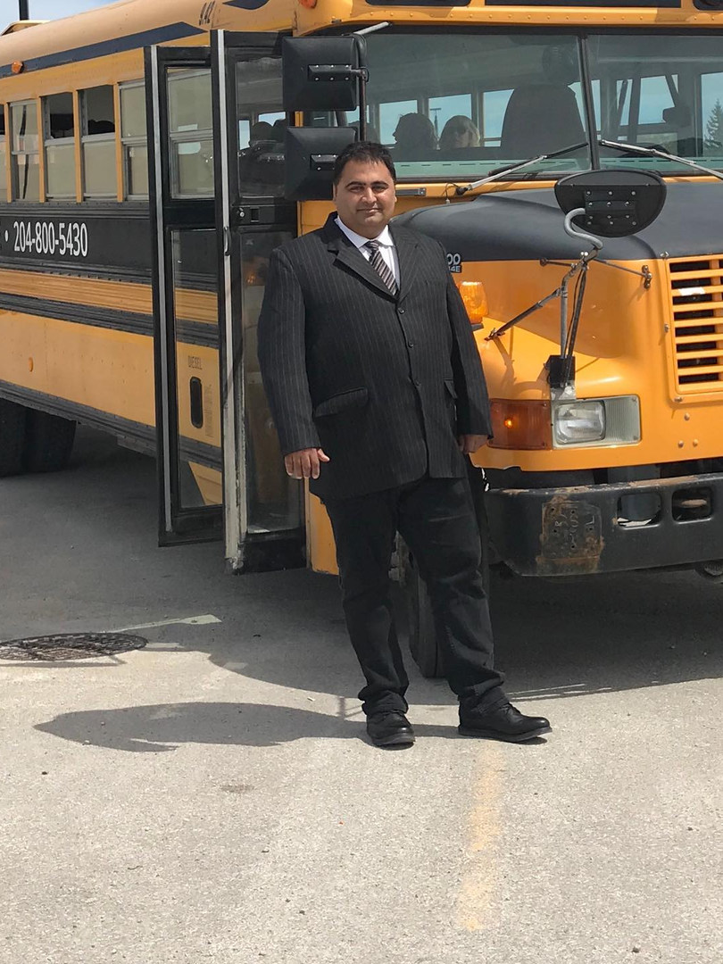 Meet Suk! One of our bus drivers. All dressed up to transport wedding guests!