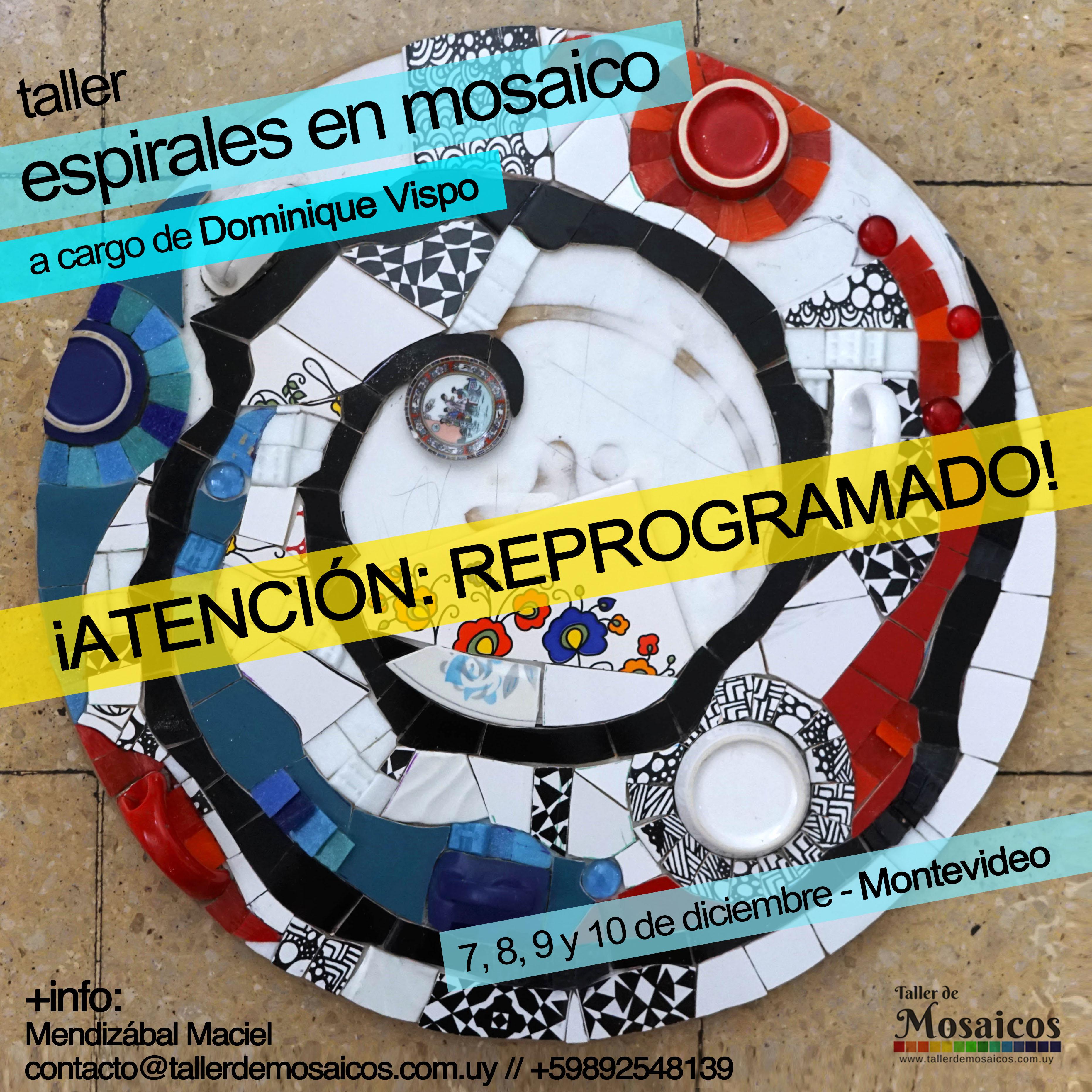 Espirales en Mosaico Dominique Vispo Uruguay