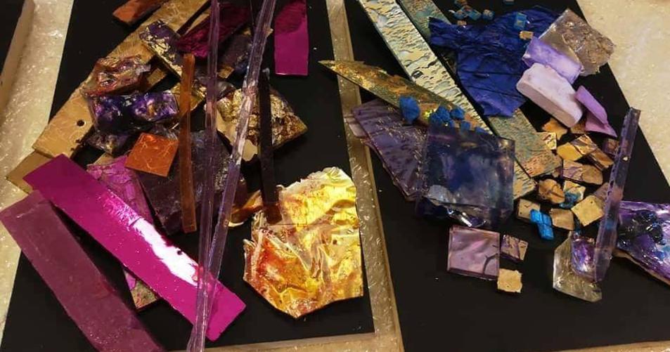 Teselas en resina Liliana Waisman Taller de Mosaicos uruguay