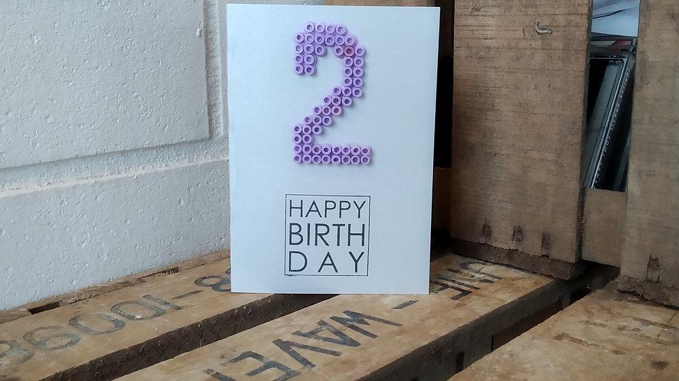 Verjaardagskaart cijfer