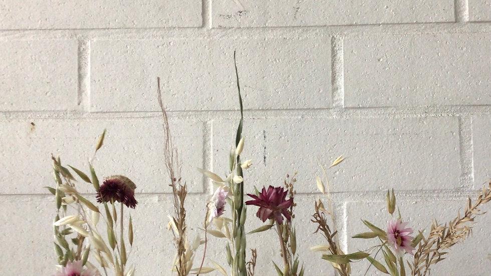Gedroogde bloemen setje van zeven