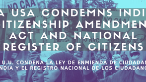 IMA USA condemns India's Citizenship Amendment Act and National Register of Citizens