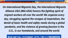 International Migrants Day 2020: The Struggle for Migrant Justice Can Not Wait