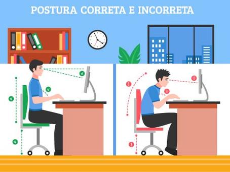 Como cuidar da sua postura no trabalho ou Home-Office?