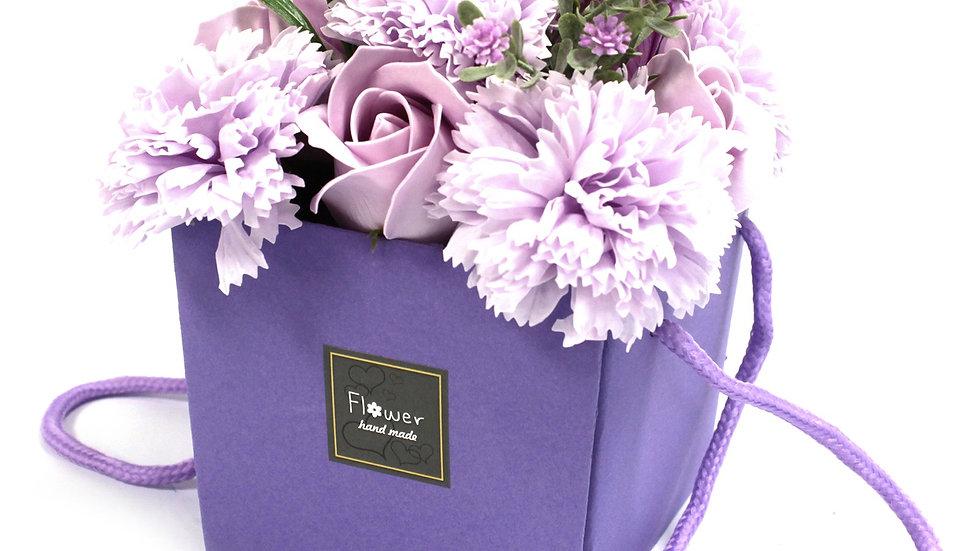 Soap Flower Bouqet - Lavender Rose & Carnation