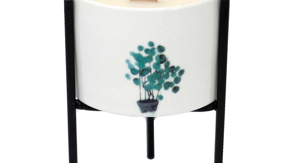 Iron Botanical Candle Holder