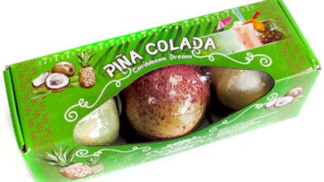 Set of 3 Pina Colada Bath Bombs