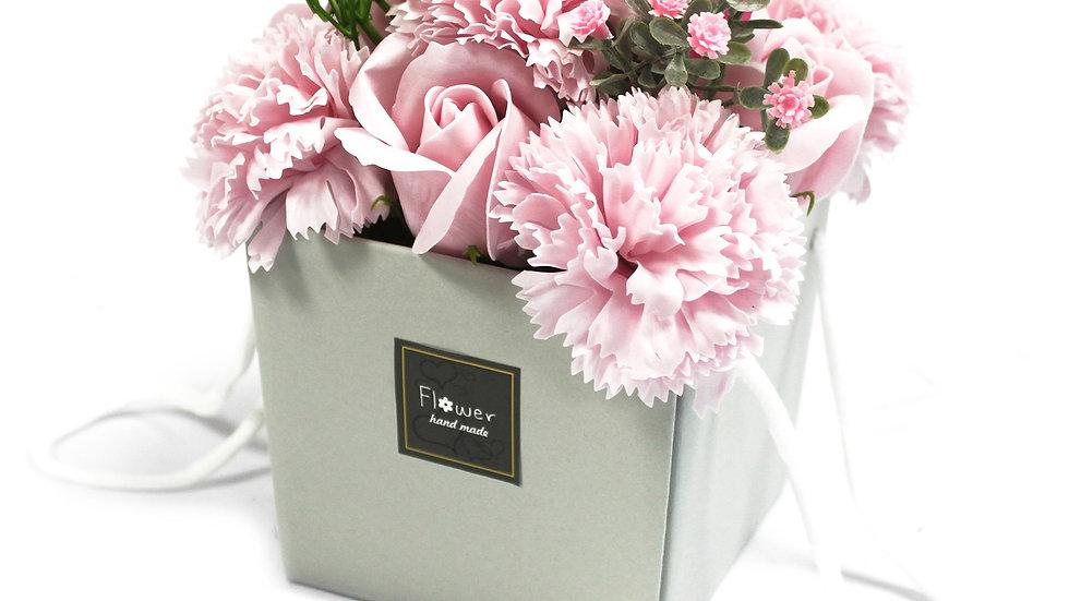 Soap Flower Bouqet - Pink Rose & Carnation