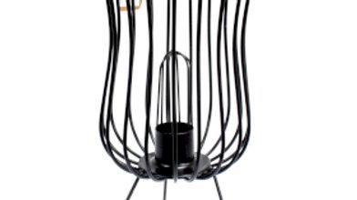 Tall Industrial Mesh Lamp