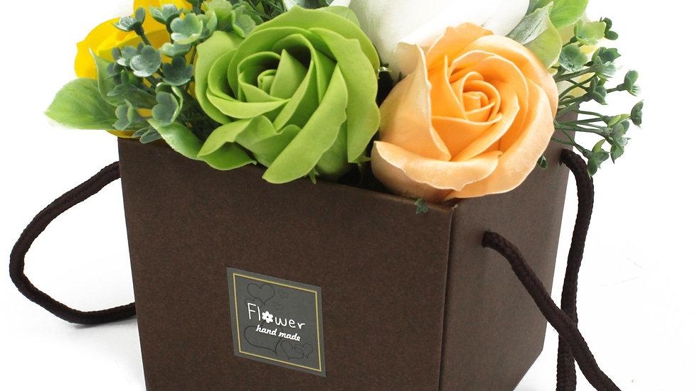 Soap Flower Bouqet - Spring Rose & Carnation