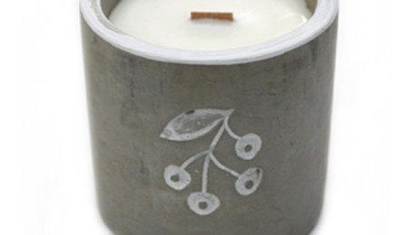 Concrete & Wood Wick Candle - Juniper & Sweet Gin