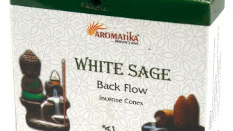 White Sage Back Flow Incense Cones
