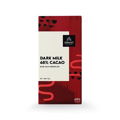 קריולו שוקולד חלב מריר 68%