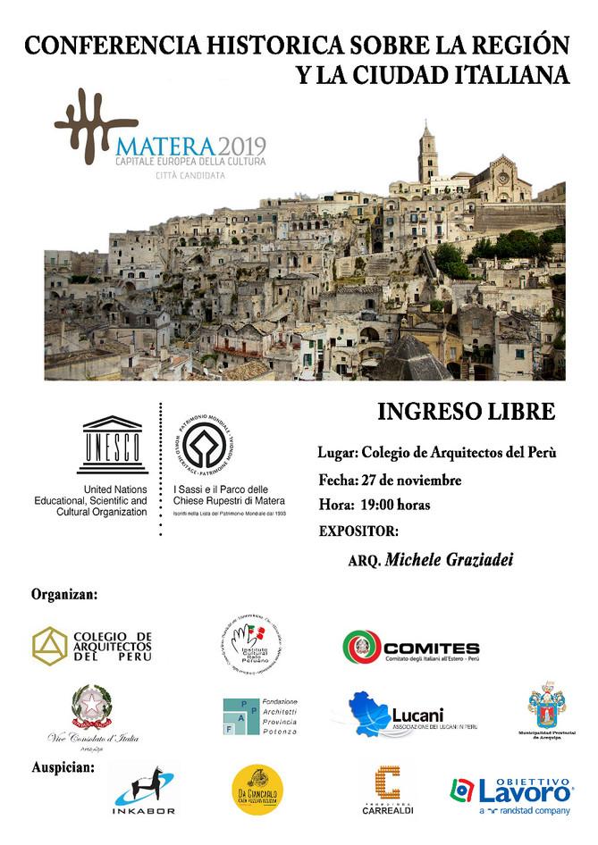 Conferenza Storica: Sulla regione e sulla città italiana di Matera