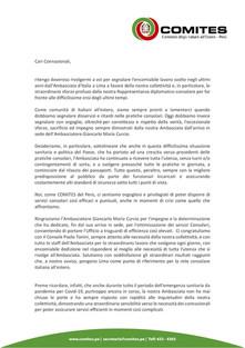 Lettera Presidente Com.it.es Perù