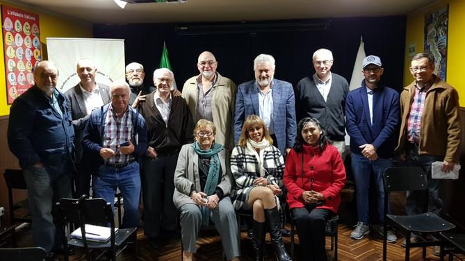 Salvatore Belcuore e Paolo Valente con Italiani ad Arequipa per un incontro con la comunità