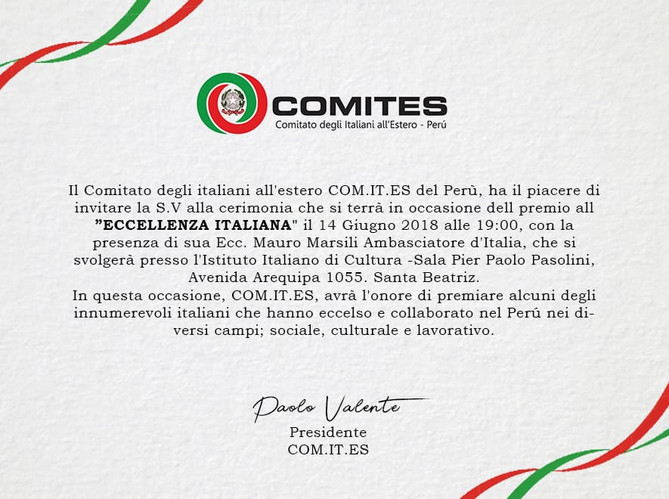 "Premio all ""Eccelenza Italiana"""