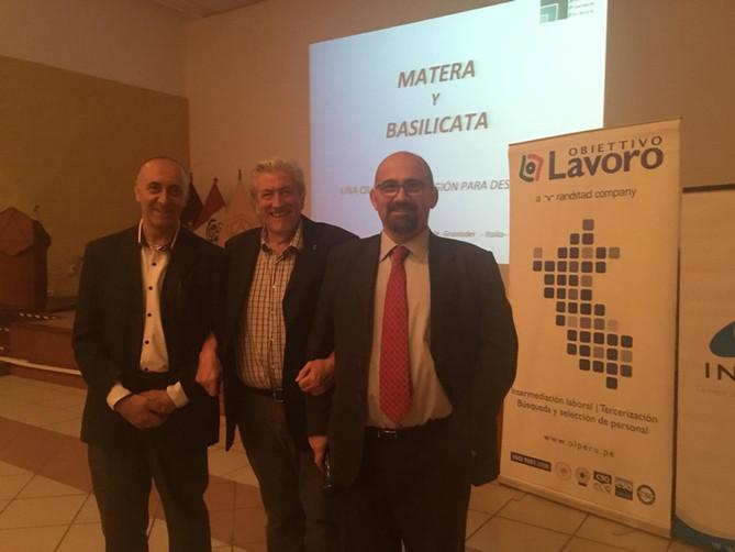 """Alcune foto della conferenza storica """"Sulla regione e sulla città di Matera"""", tenutasi nel"""