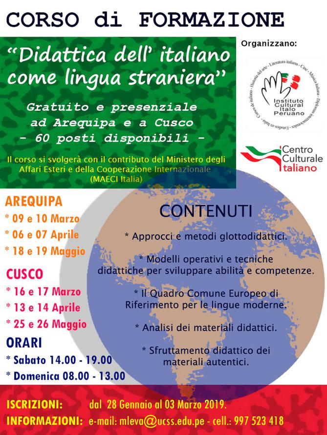 """Corso di formazione: """"Didattica dell'italiano come lingua straniera"""""""