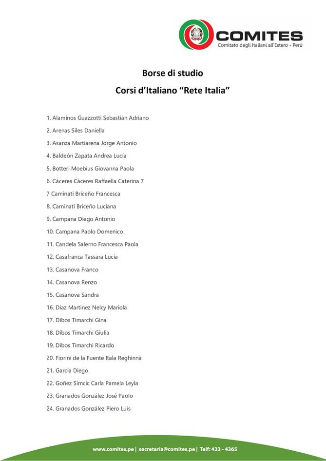 """Borse di studio - Corsi d'italiano """"Rete Italia"""