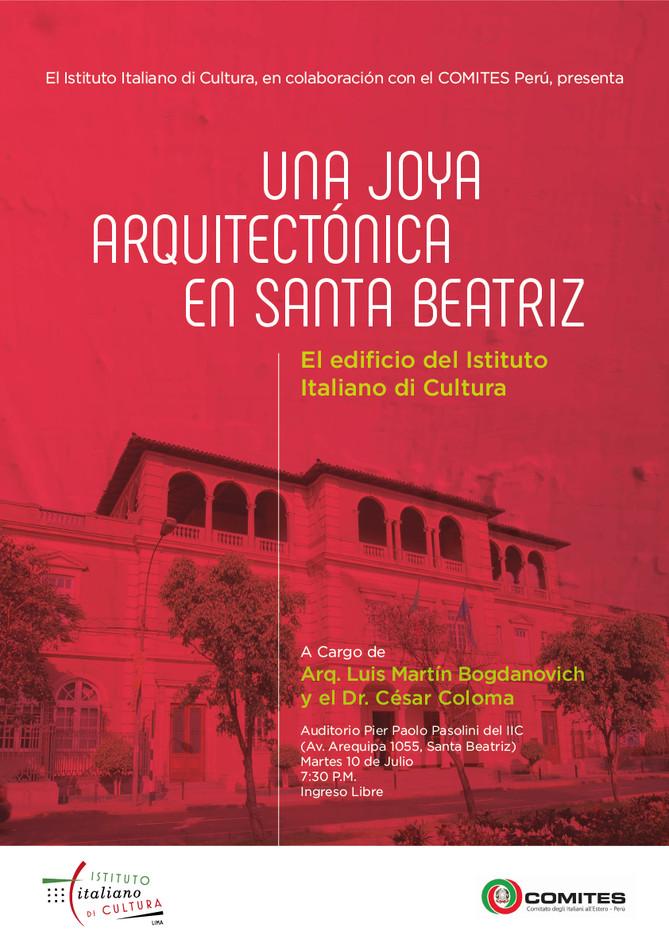 """Conferencia """"Una joya arquitectónica en Santa Beatriz"""
