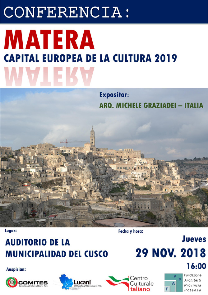Conferenza: Matera capitale europea della cultura 2019