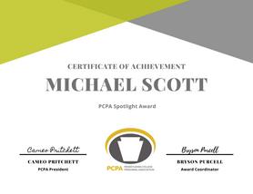 PCPA Award Template