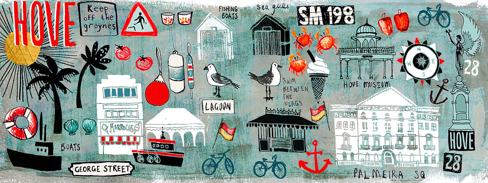 I was also inspired to create this map artwork for the lovely They Draw and Travel website