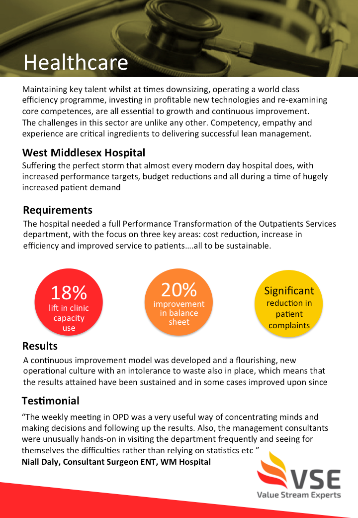 Case Study for lean management in the healthcare sector