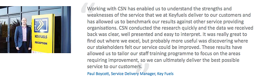 Key Fuels - CSN Customer for CX support