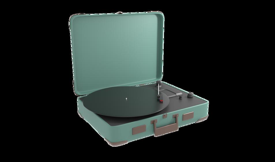 3D Vinyl Record Player Refined
