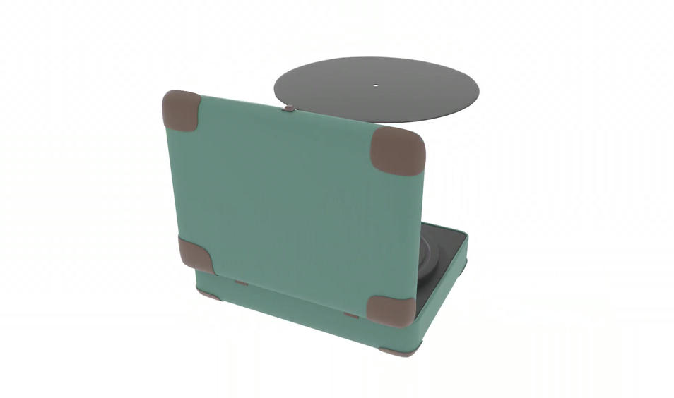3D Vinyl Record Player Finalized