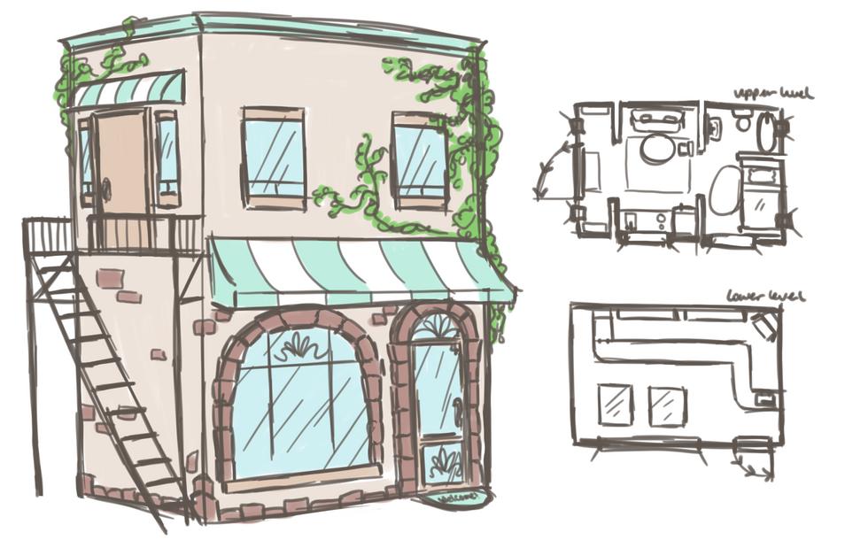 Studio Apartment & Store Building