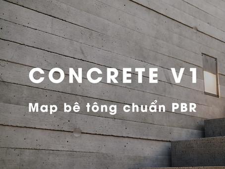 CONCRETE PBR V1 - map Bê tông chuẩn PBR