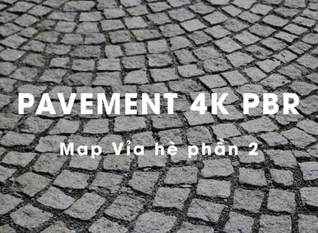 Map vật liệu lát vỉa hè 4k PBR