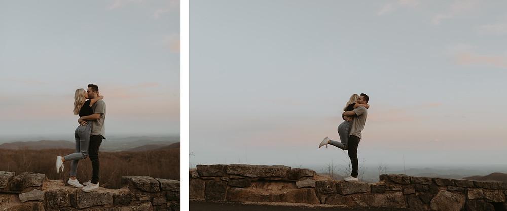 Shenandoah valley sunset engagement session