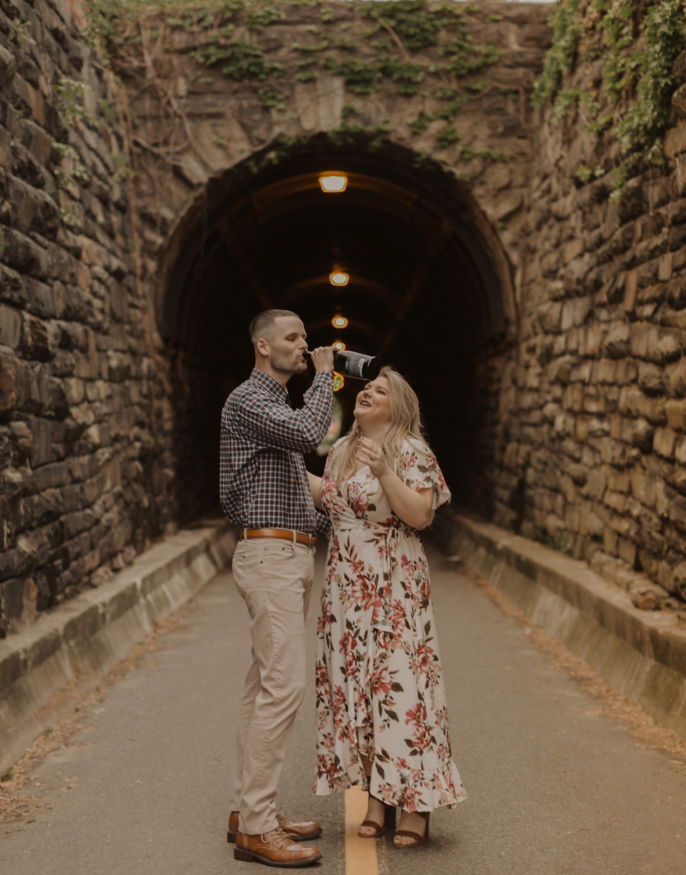 Wilkes tunnel Alexandria Virginia Engagement session