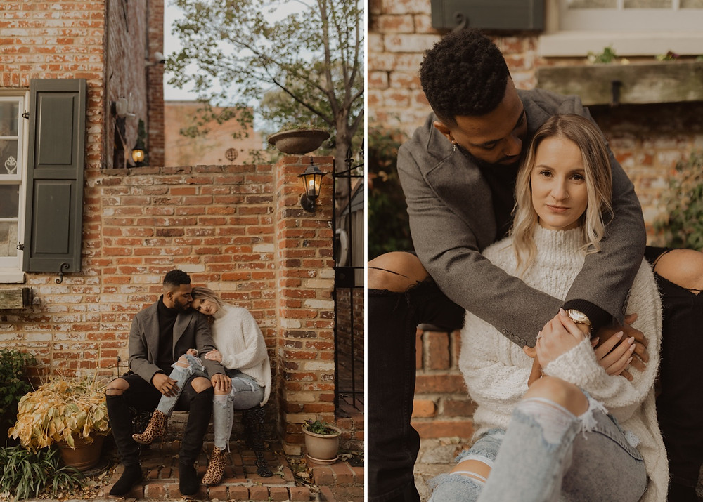 Fall Downtown Georgetown Engagement session