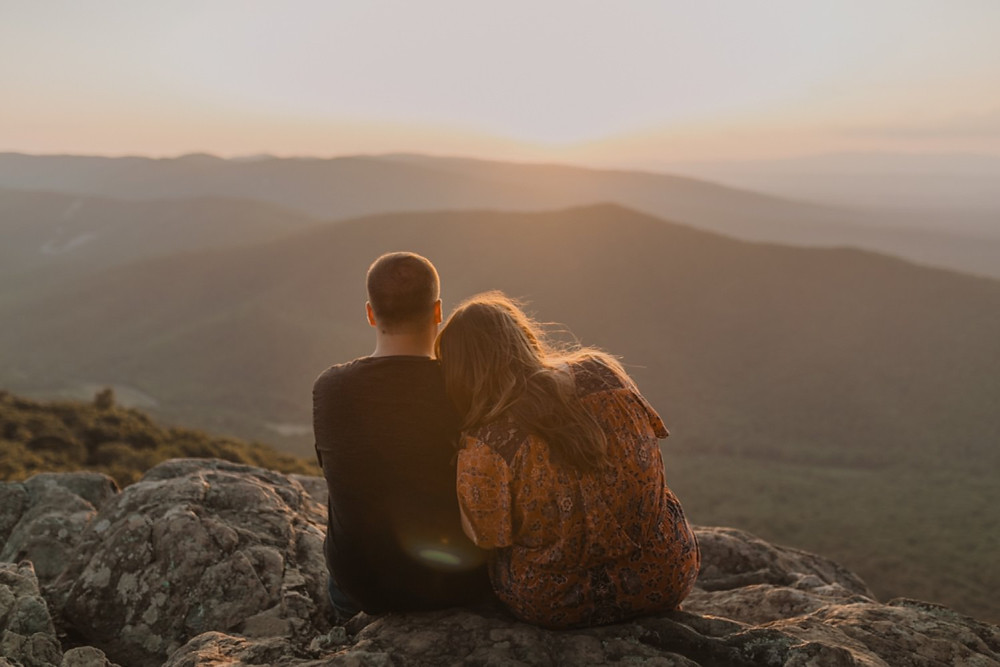 Ravens roost overlook sunset engagement session