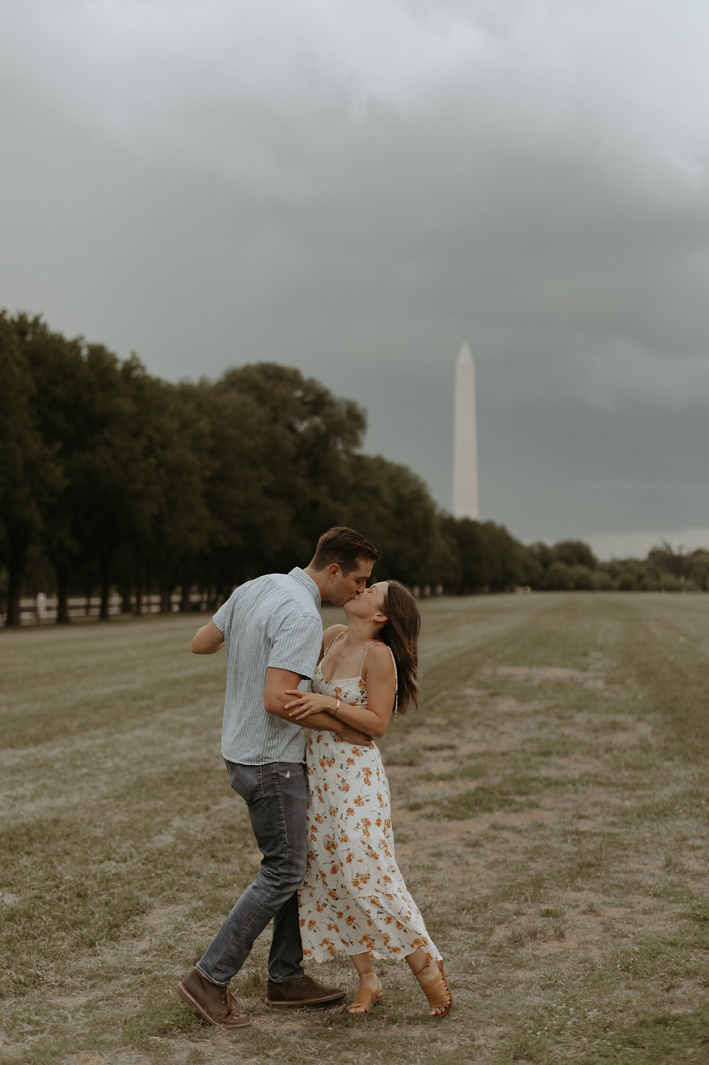 Washington dc monument engagement session